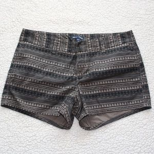 Gap Hadley Shorts Black Brown Patterned EUC